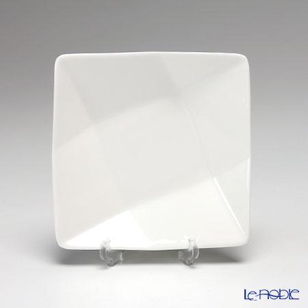 プリモビアンコ 白の器スクエアディーププレート(S) 11.5cm