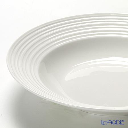 プリモビアンコ 白の器スーププレート(ウェイブ) 23cm