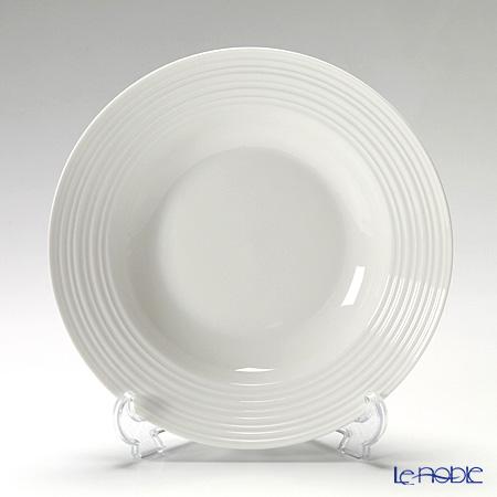 プリモビアンコ 白の器 ウェイブ スーププレート 23cm