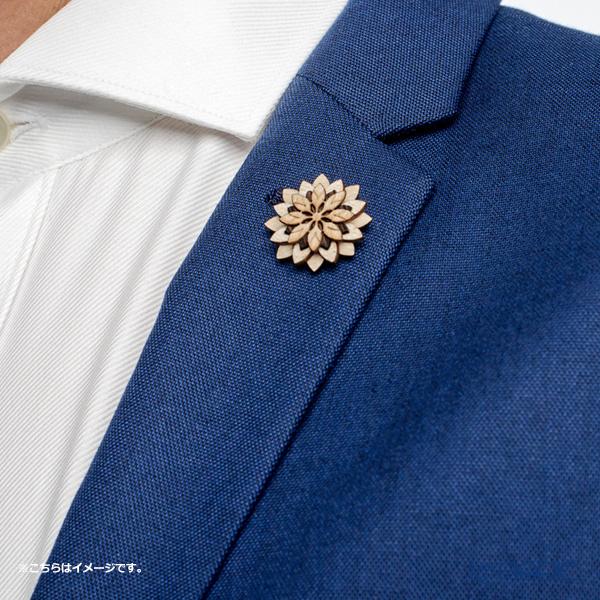 BeWooden LF2 Bellis Flower pin badge