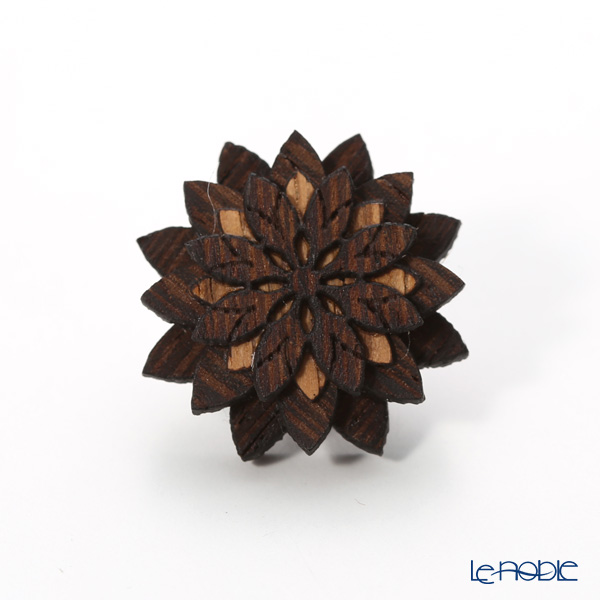 BeWooden LF4 Deco Flower pin badge