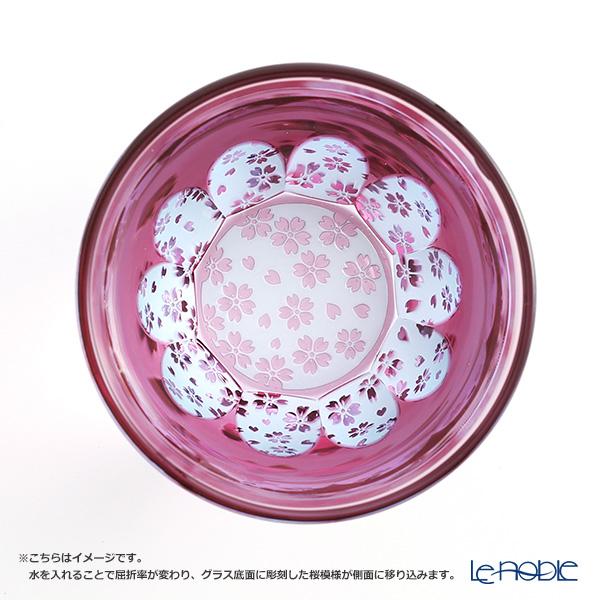 GLASS-LAB / Edo Sand Kiriko Flashed Glass 'Sakura Saku (Cherry Blossom)' Pink S-103-001 OF Tumbler