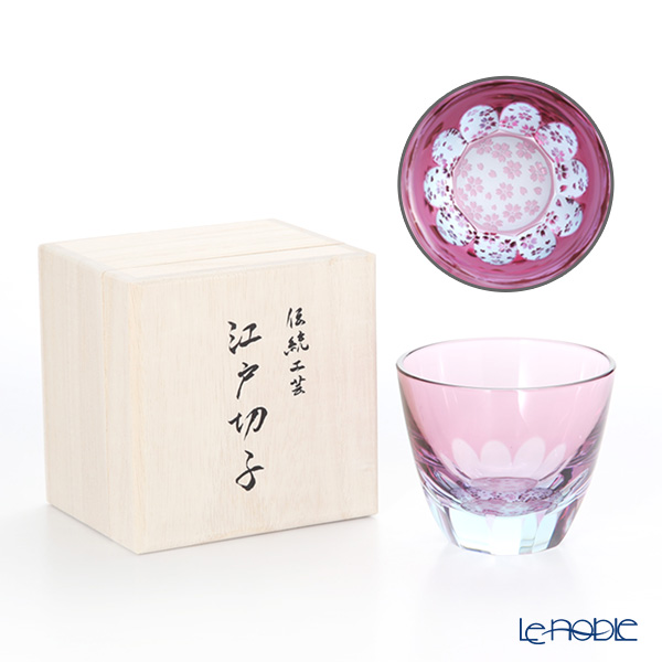 GLASS-LAB グラス・ラボ 江戸切子 砂切子 S-103-001 サクラサク