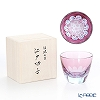 GLASS-LAB Edo Kiriko S-103-001 Sakurasaku (Cherry Blossom) Rock Glass