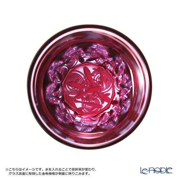 GLASS-LAB / Edo Sand Kiriko Flashed Glass 'Kingyo (Goldfish)' Pink S-103-002 OF Tumbler