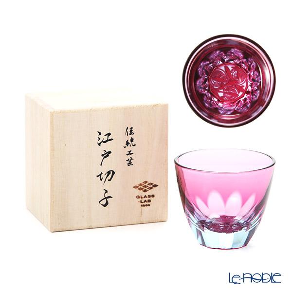 GLASS-LAB グラス・ラボ 江戸切子 砂切子 金魚 水面 S-103-002