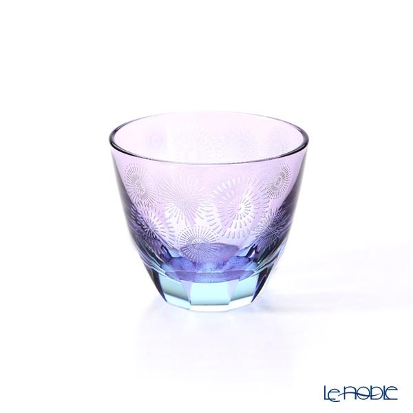 GLASS-LAB グラス・ラボ 江戸切子 砂切子花火 水面 S-103-003
