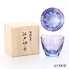 GLASS-LAB Edo Kiriko - Sand Kiriko S-103-003 Hanabi (Fireworks) Rock Glass