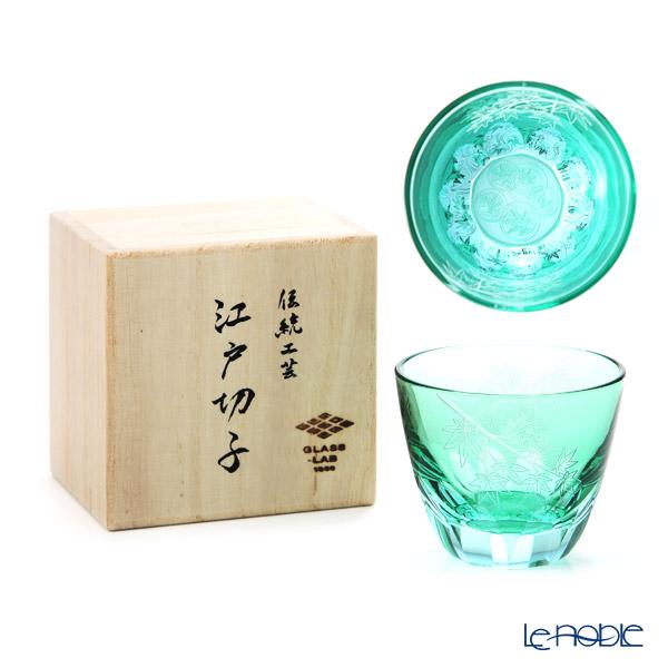 GLASS-LAB グラス・ラボ 江戸切子 砂切子 楓 水面 S-103-004