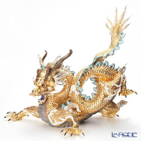 リヤドロ 臥龍(GOLD) HIGH PORCELAIN 01973 台座付