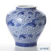 FUKAGAWA SEIJI 'Sometsuke (Underglazed Blue) Matsukuizuru (Crane Carrying Pine Branch)' Vase