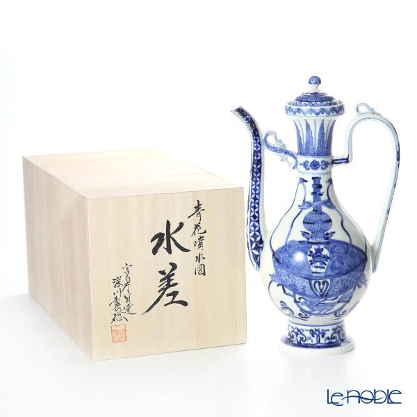 Fukagawa Seiji / Arita Ware 'Sometsuke (Underglazed Blue) Fountain Pattern' Pitcher / Water Jug