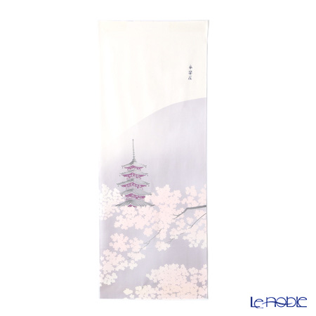 Eirakuya 'Koto no Sakura / Cherry Blossom & Five-storied Pagoda' [Reprint of 1935] Tenugui / Japanese Hand Towel 36x91cm