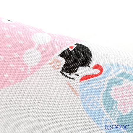 Eirakuya 'Maiko Narabe / Geisha be in Line' Red Tenugui / Japanese Hand Towel 120x36cm