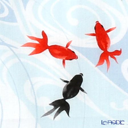 Eirakuya 'Suimon Kingyo / Goldfish & Water Lipple' Tenugui / Japanese Hand Towel 36x91cm