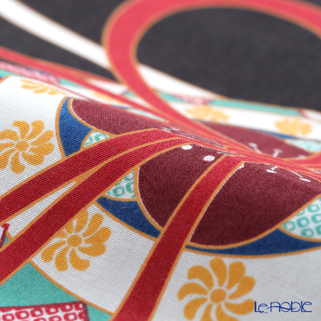 Eirakuya 'Temari / Handball' Black Tenugui / Japanese Hand Towel 36x91cm