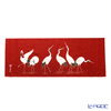 Eirakuya 'Narabi Tsuru / Crane' Red Tenugui / Japanese Hand Towel 91x36cm