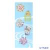 Eirakuya 'Maiko san no Hana Kazari - Natsu / Geisha's Hair Ornament - Summer (Hydrangea, Willow, Round Fan, Fan)' Tenugui / Japanese Hand Towel 36x91cm