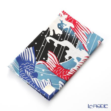 Eirakuya 'Goriyaku / Five Jumping Carps' Tenugui / Japanese Hand Towel 36x91cm