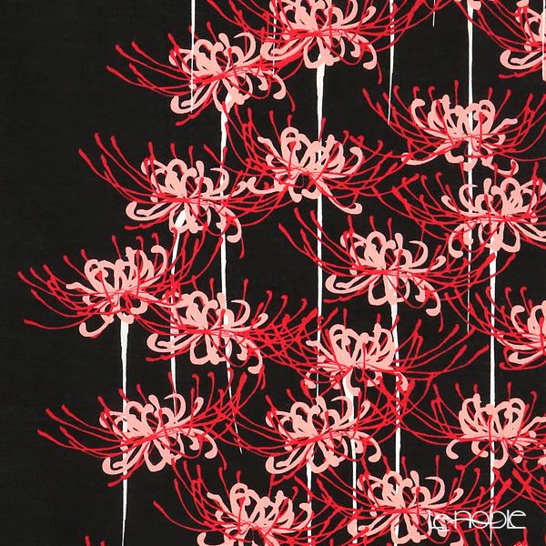 Eirakuya 'Machiya - Higan Bana / Cluster Amaryllis' Tenugui / Japanese Hand Towel 36x91cm