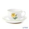 Augarten 'Winner Flower - Wild Rose' Yellow [Schubert Shape] Coffee Cup & Saucer 200ml