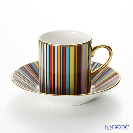 Thomas Goode &Paul Smithコーヒーカップ&ソーサー マルチストライプ