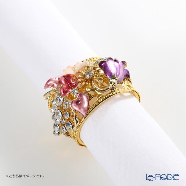 Thomas Goode(Cadogan Crowns)ナプキンリング フラワーカラー G