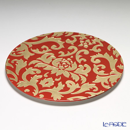 Luzerne 'Diva Lotus' Red x Gold DL5133RG Show Plate 30.5cm