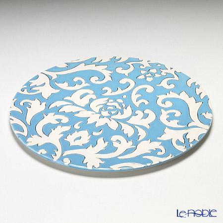 ルザーン ニューボーン ディーバ ロータスプレート 30.5cm ブルー/ホワイト DL5134BW