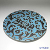 Luzerne newborn divas Lotus 30.5 Cm plate blue / black DL5135BB