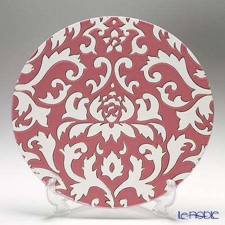 Luzerne 'Diva Lotus' Pink x White DL5136FP Show Plate 30.5cm