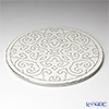 Luzerne newborn grace Show plate 31 cm white / Platinum GR5131WP