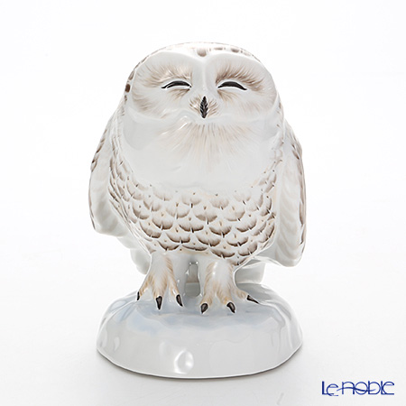 AMIRA 陶磁器製フィギュリン 雪ふくろう 【ル・ノーブルオリジナル企画作品】