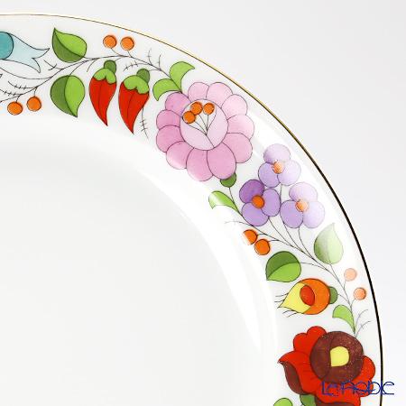 カロチャ刺繍柄陶器 101031デザートプレート 19cm