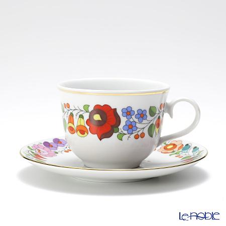 カロチャ刺繍柄陶器 102031ティーカップ&ソーサー 220cc