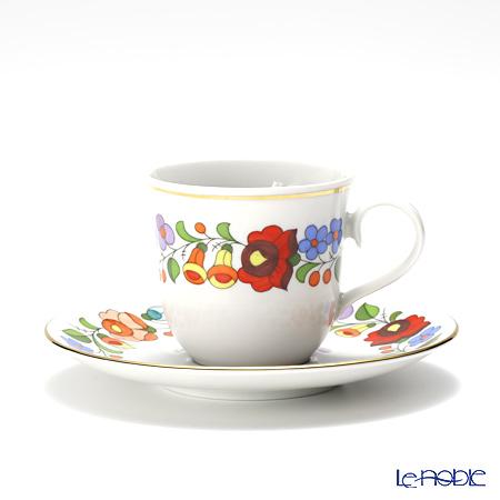 カロチャ刺繍柄陶器 104031コーヒーカップ&ソーサー 100cc