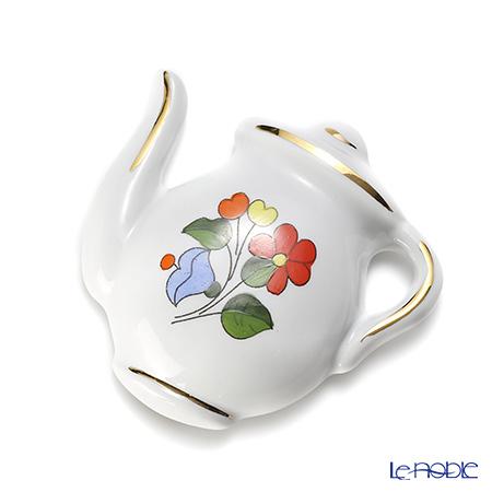 カロチャ刺繍柄陶器 718071マグネット ポット 7cm