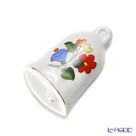 カロチャ刺繍柄陶器 718081マグネット ベル 6cm