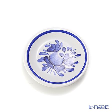ハンガリー陶器 マグネットプレート型 ローズブルー