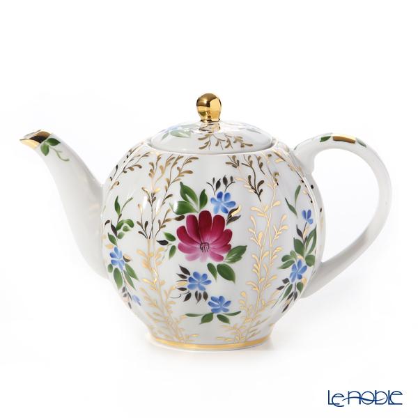 ロシア食器 インペリアル・ポーセリン ゴールデングラス ティーポット(チューリップ)