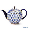 Imperial Porcelain Cobalt Net Tulip Tea Pot 600 ml