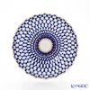 Imperial Porcelain Cobalt Net Tulip Cake Dish 215 mm
