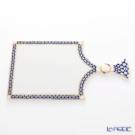 Imperial Porcelain / Lomonosov 'Cobalt Net Blue' Cheese Board 33cm