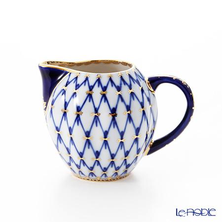 Imperial Porcelain / Lomonosov 'Cobalt Net Blue - Tulip' Creamer 200ml
