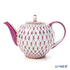 Imperial Porcelain Blues Pink Net Tea Pot 600 ml