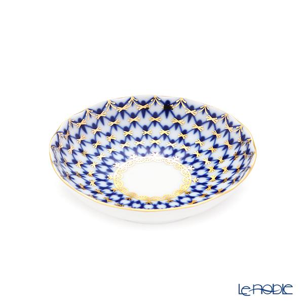 Imperial Porcelain / Lomonosov 'Cobalt Net Blue - Tulip' Jam Dish 10cm