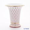 Imperial Porcelain Blues Pink Net Empire Vase for Flowers 20.3 cm