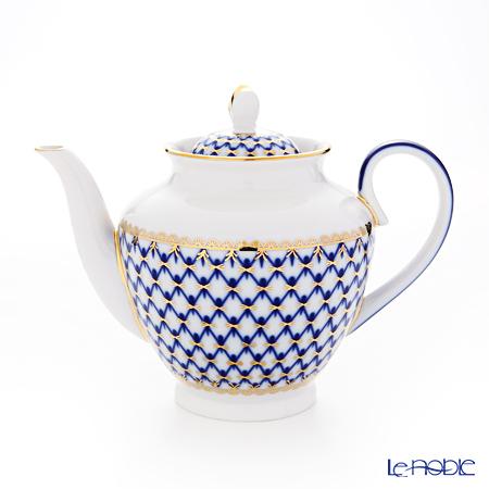 Imperial Porcelain / Lomonosov 'Cobalt Net Blue - Spring' Tea Pot 800ml