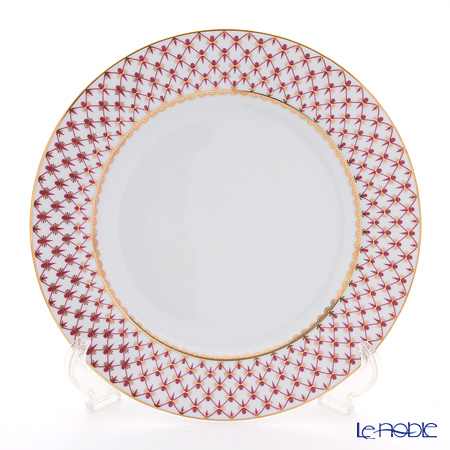 Imperial Porcelain Blues Pink Net Plate 10.6