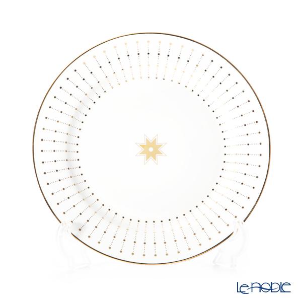 ロシア食器 インペリアル・ポーセリン スカーレット(アズール) プレート 20cm ゴールド